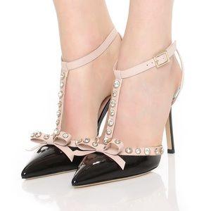 Kate ♠️ Spade Lydia black paten heels. NIB Sz.8